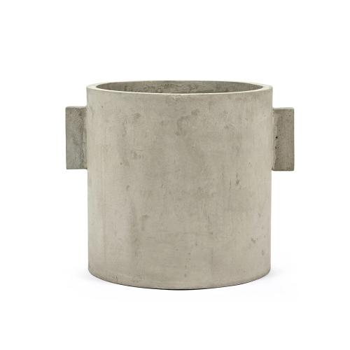 cache pot plante a poser decoration béton ciré style brut industriel naturel