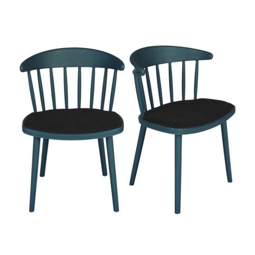 chaise deco petit budget cuisine design bleu canard
