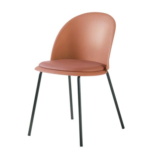 chaise deco petit budget cuisine orange corail moderne