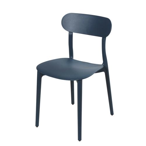 chaise deco petit budget cuisine bleu pétrole simple style école