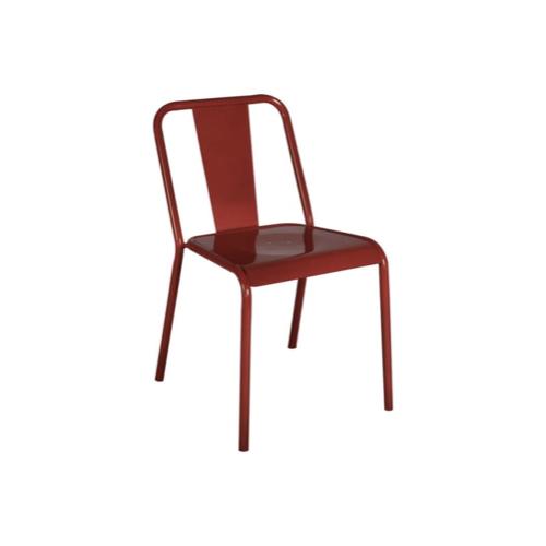 chaise deco petit budget cuisine métal rouge
