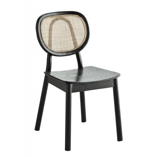 chaise vintage decoration bureau moderne cannage et noir télétravail