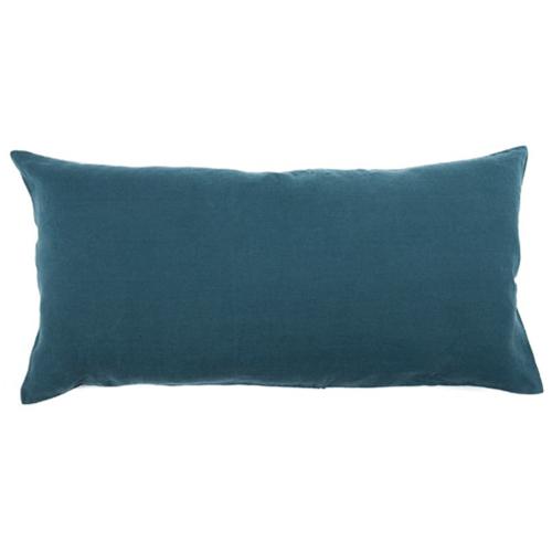 chambre bord de mer meuble decoration coussin deco bleu canard rectangulaire