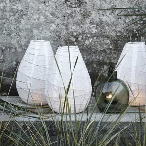 chambre bord de mer meuble decoration lanterne en papier blanche