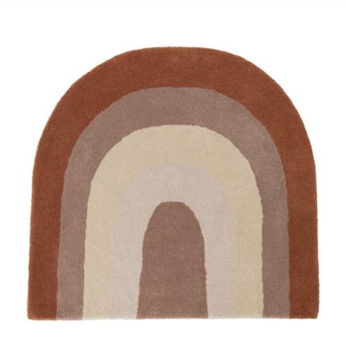 deco couleur enfant tapis arc en ciel terracotta beige chocolat tendance moderne