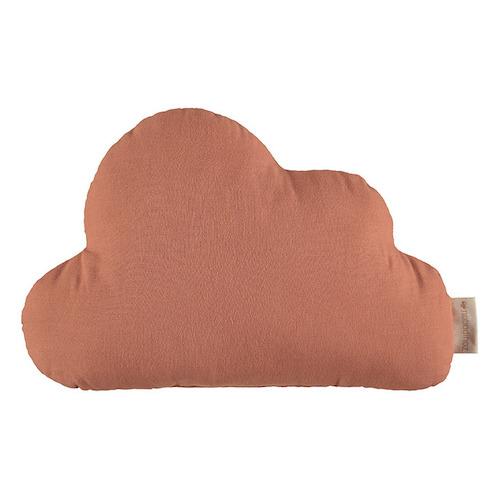 deco enfant couleur terracotta coussin forme nuage
