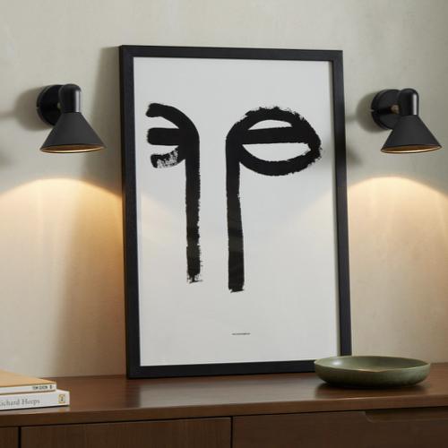 deco et meuble style masculin salon petote applique murale noir design simple