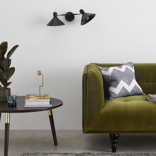 deco et meuble style masculin salon applique murale petit format noir
