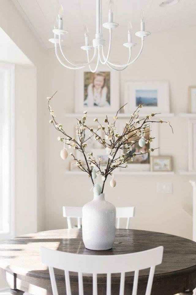 deco paques a faire soi meme bouquet vase décoration recup branche d'arbre