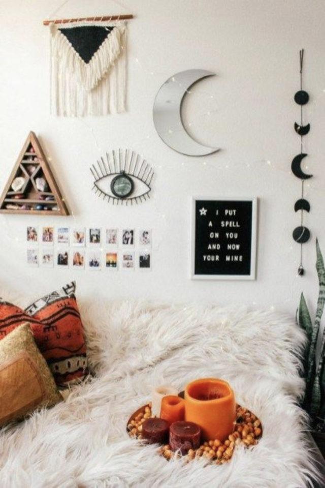 decor mural pas cher exemple petit appartement jeune studio adulte ado chambre enfant bohème
