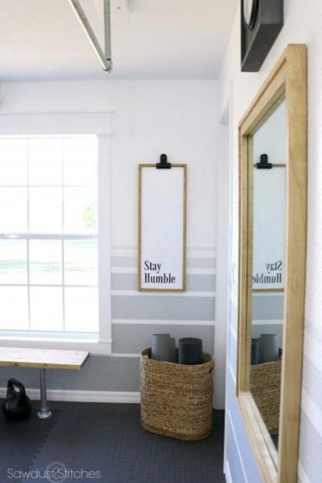decor mural pas cher exemple chambre peinture dégradé affiche poster miroir simplicité