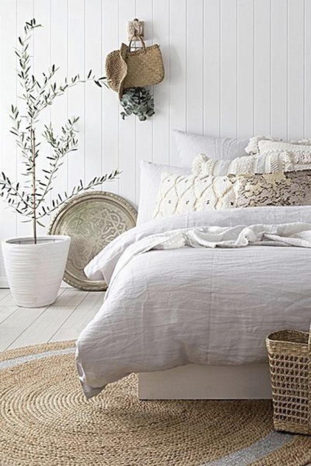 exemple deco chambre bord de mer mur labris bois blanc décoration naturelle et slow