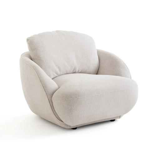 fauteuil courbe tendance slow chic beige bouclette