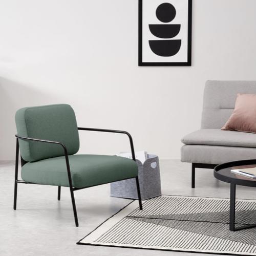 fauteuil salon vert rose chaise vert et noir