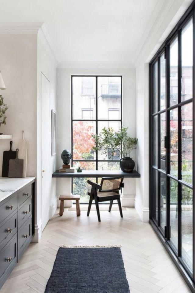 interieur aesthetic fenetre deco bureau sans rideaux vue