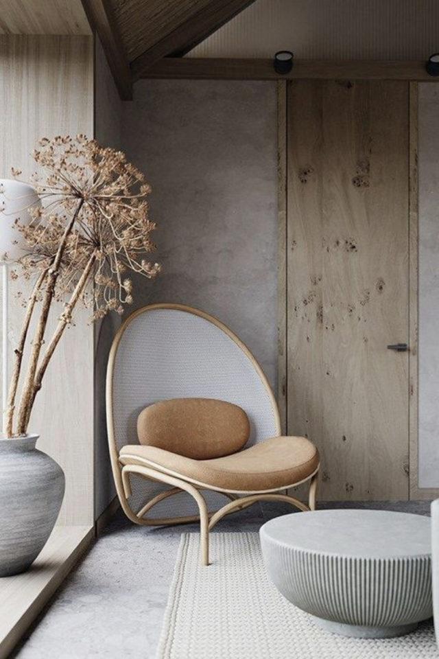 interieur fauteuil design courbes slow simplicité