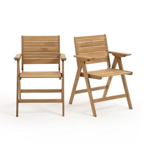 jardin tropical exemple mobilier petite chaises pliantes bois