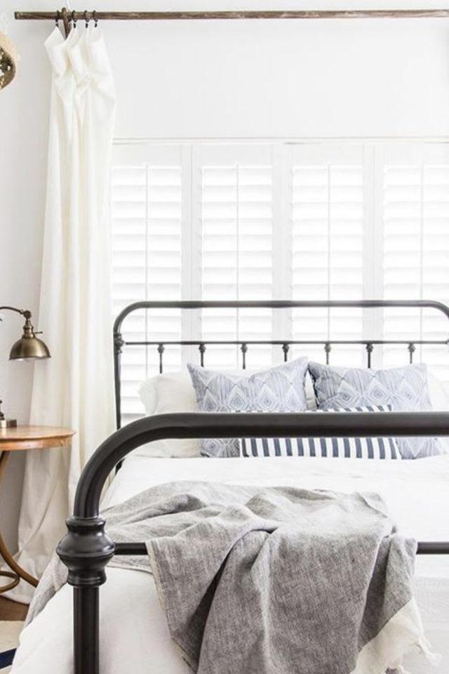 lit double metal decoration chambre élégance et simplicité facile à copier