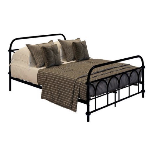lit metal noir adulte style vintage chambre à coucher moderne