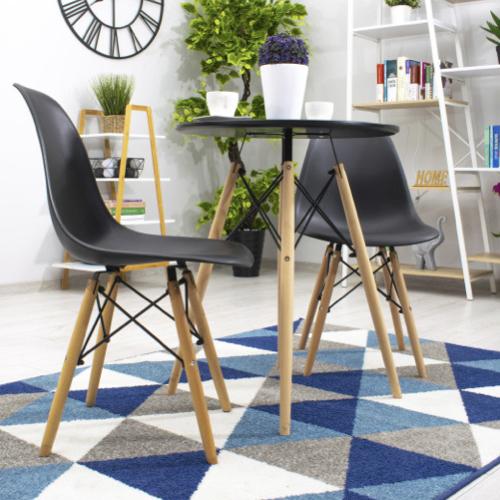 lot chaise cuisine pas cher scandinave gris bois métal