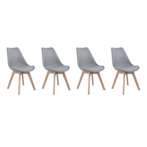 lot chaise cuisine pas cher gris et bois petit budget décoration
