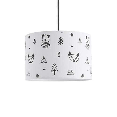 luminaire chambre enfant couleur suspension noir et blanc motif graphique