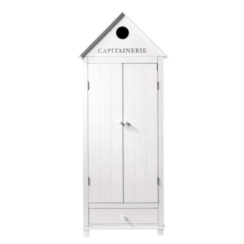 meuble chambre style bord de mer petite armoire forme chalet
