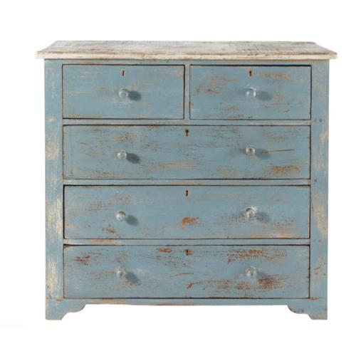 meuble chambre style bord de mer commode bleu patinée