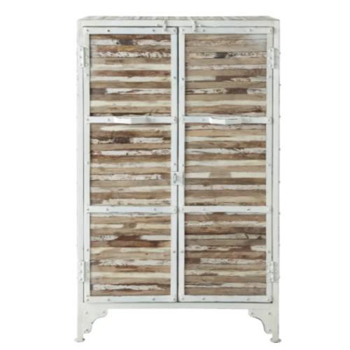 meuble chambre style bord de mer petite armoire porte volets bois patinés
