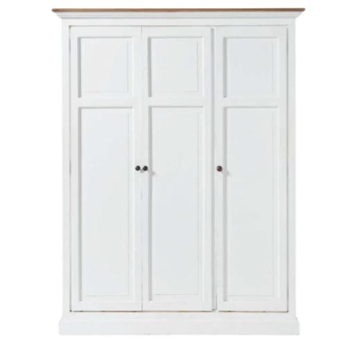meuble chambre style bord de mer armoire parisienne blanche patinée