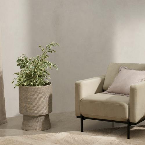 meuble deco salon slow nature pot de fleur tressé nouveauté