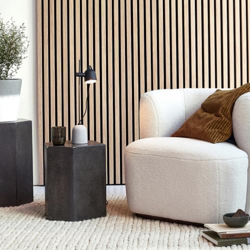 meuble deco salon slow nature bout de canapé ciment hexagone