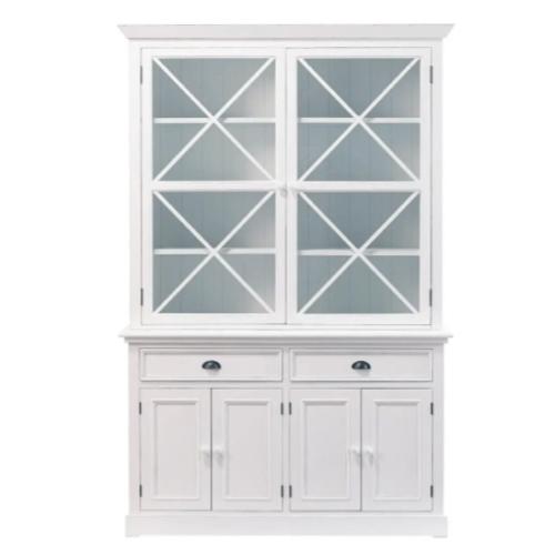 meuble salle a manger bord de mer vaisselier vitrine rustique blanc