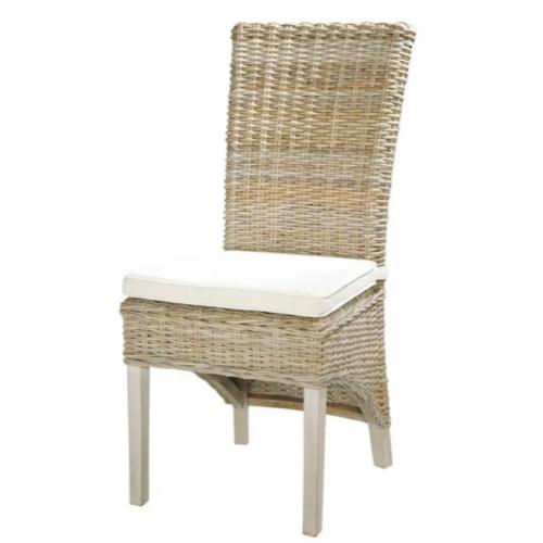 meuble salle a manger bord de mer chaise en rotin osier tressé