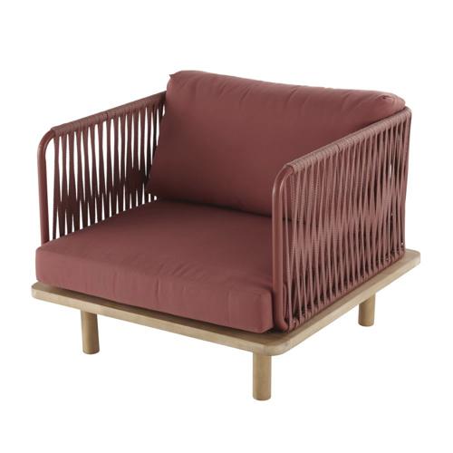 mobilier petit balcon exemple fauteuil extérieur couleur terracotta confortable