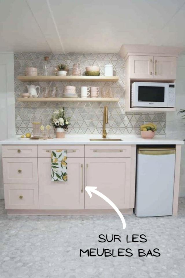 ou mettre couleur petite cuisine meuble bas en linéaire idée déco