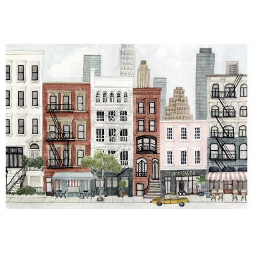 ou trouver affiche murale pas cher poster dessin immeuble ville