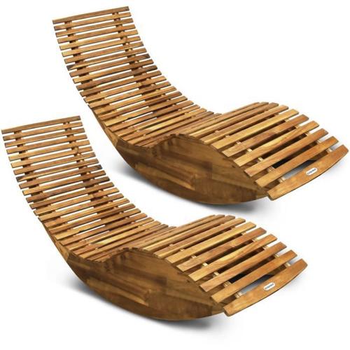 ou trouver bain de soleil pas cher design bois bascule original tendance piscine jardin terrasse confort