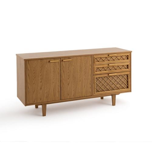 ou trouver buffet vintage bois 2 portes coulissantes et tiroir simple