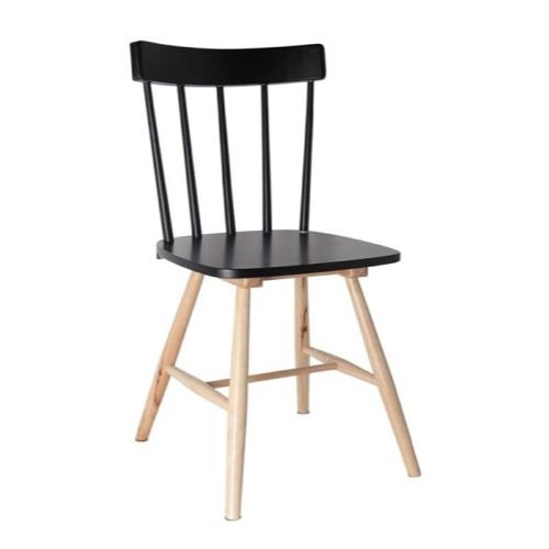ou trouver chaise cuisine moins 50 euros bois style bistrot noir