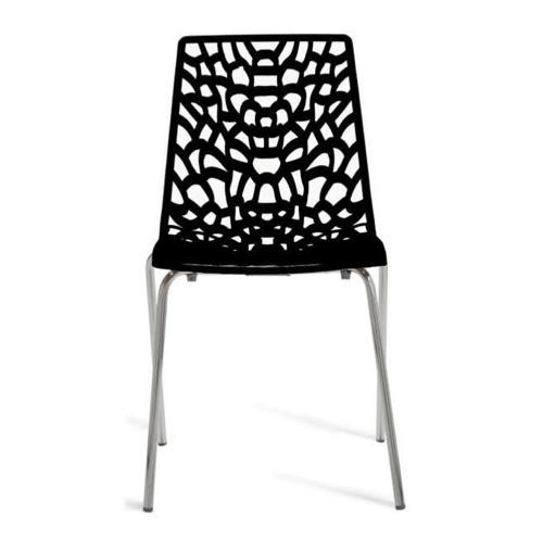 ou trouver chaise cuisine moins 50 euros plastique et métal ajouré noir
