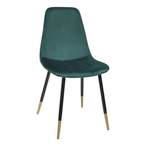 ou trouver chaise cuisine moins 50 euros velours vert pieds noir et laiton