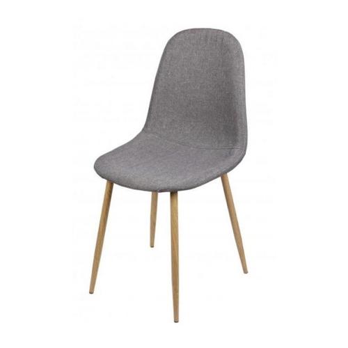 ou trouver chaise cuisine pas cher pied bois tissus gris