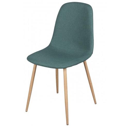 ou trouver chaise cuisine pas cher pied bois tissus vert