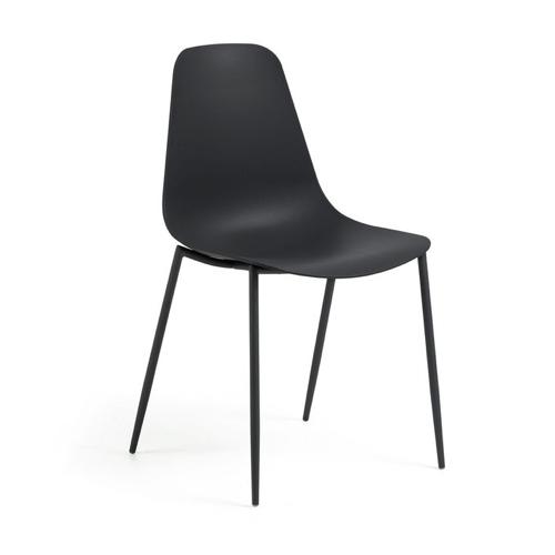 ou trouver chaise cuisine pas cher noir pied et assise sobre design