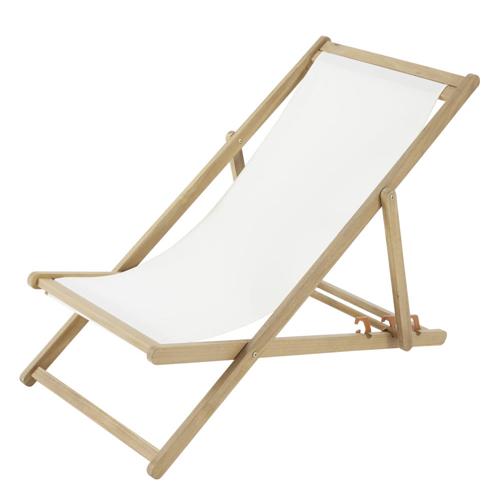 ou trouver chaise longue deco chilienne écri et bois confort jardin vacances terrasse balcon rootop été printemps