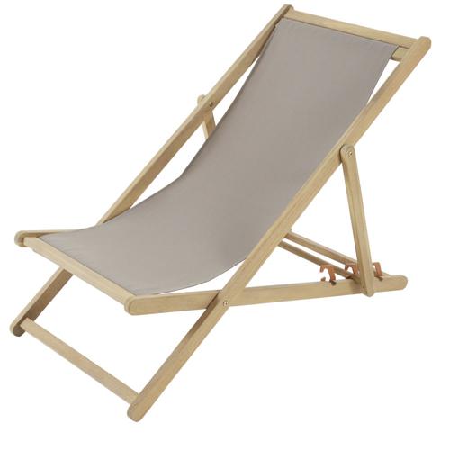 ou trouver chaise longue deco chilienne transat bois et tissus marron neutre douceur confort jardin terrasse