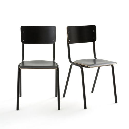 ou trouver chaise tabouret coin repas chaise style école bois et métal