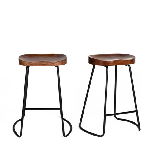 ou trouver chaise tabouret coin repas tabouret metal et cuir industriel vintage