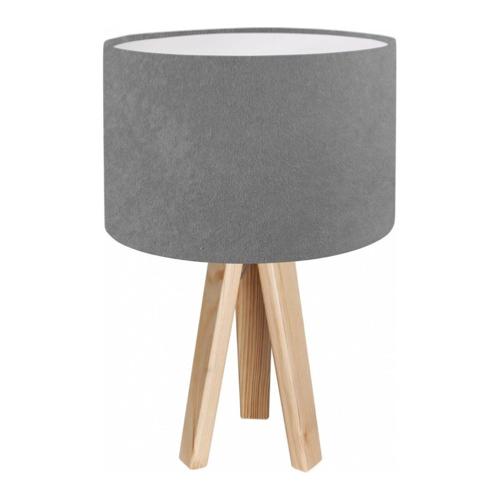 ou trouver deco chambre bord de mer lampe de chevet pied bois abat-jour gris